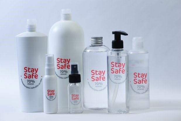 StaySafe-lastni razvoj razkužila za roke podjetja IOS