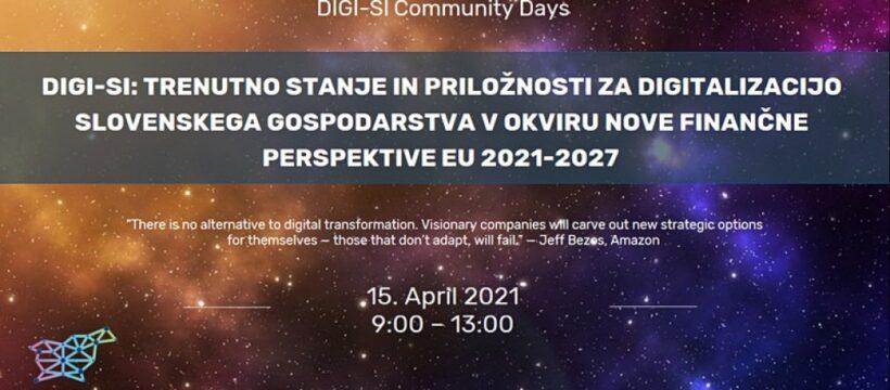 Trenutno stanje in priložnosti za digitalizacijo slovenskega gospodarstva v okviru nove finančne perspektive