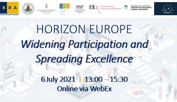 Obzorje Evropa: spletni dogodek ˝Razširjanje sodelovanja in širitev odličnosti˝
